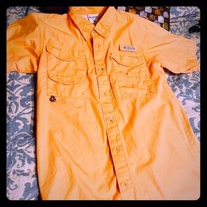 Boys XL Columbia lightly worn fishing shirt.